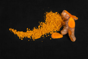 Curcumin root and turmeric spice